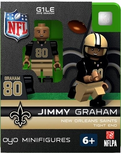 OYO Football NFL Building Brick Minifigure Jimmy Graham [New Orleans Saints]