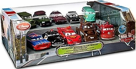 Disney / Pixar CARS Movie Exclusive 1:48 Die Cast Car 10-Pack Radiator Springs to the Rescue [Josh Coolant,Ramone, Sheriff, Mcqueen, Mater, Red, Sarge, Fillmore, Gremlin, Trunkov]