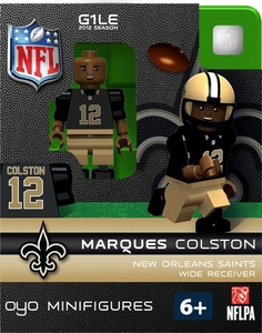 OYO Football NFL Building Brick Minifigure Marques Colston [New Orleans Saints]