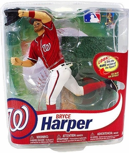 McFarlane Toys MLB Sports Picks Series 31 Action Figure Bryce Harper (Washington Nationals) Red Jersey & Black Shoes