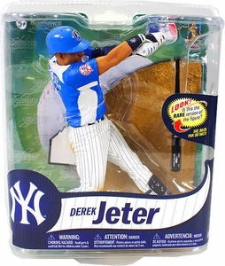 McFarlane Toys MLB Sports Picks Series 31 Action Figure Derek Jeter (New York Yankees) Powder Blue Jersey Collector Level Only 1,000 Made!
