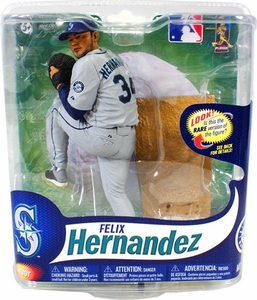McFarlane Toys MLB Sports Picks Series 31 Action Figure Felix Hernandez (Seattle Mariners) Gray Jersey Collector Level Only 1,500 Made!