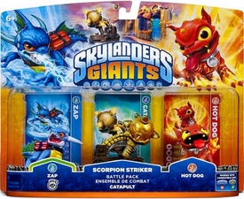 Skylanders Giants Battle Pack Scorpion Striker [Zap, Catapult & Hot Dog] BLOWOUT SALE!