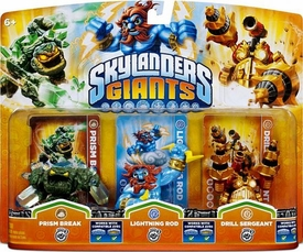 Skylanders GIANTS Figure 3-Pack Prism Break, Lightning Rod & Drill Sergeant
