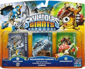 Skylanders Giants Battle Pack Dragonfire Cannon [Chop Chop, Cannon & Shroomboom] BLOWOUT SALE!