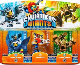 Skylanders GIANTS Figure 3-Pack Sprocket, Sonic Boom & Stump Smash BLOWOUT SALE!