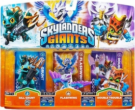 Skylanders GIANTS Figure 3-Pack Gill Grunt, Flashwing & Double Trouble BLOWOUT SALE!