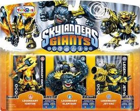 Skylanders Giants Exclusive LEGENDARIES Figure 3-Pack LEGENDARY Ignitor, Slam Bam & Jet-Vac