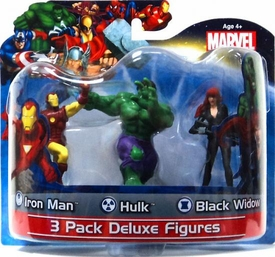 Marvel Monogram 4 Inch Deluxe Figure 3-Pack Iron Man, Hulk & Black Widow