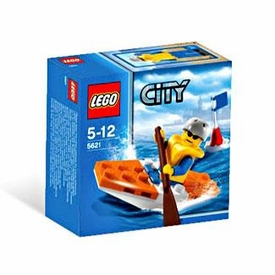 LEGO City Mini Figure Set #5621 Coast Guard Kayak