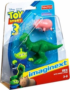 Imaginext Disney / Pixar Toy Story Figure Pack Rex with Hamm & Alien