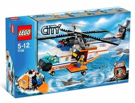 LEGO City Set #7738 Coast Guard Helicopter & Life Raft