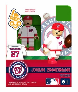 OYO Baseball MLB Building Brick Minifigure Jordan Zimmermann [Washington Nationals]