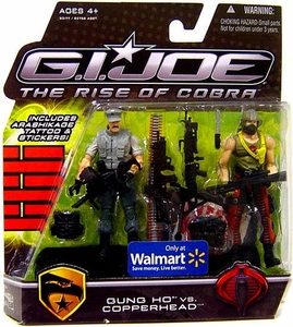 GI Joe Movie The Rise of Cobra 3 3/4 Inch Exclusive Action Figure 2-Pack Gung Ho Vs. Copperhead