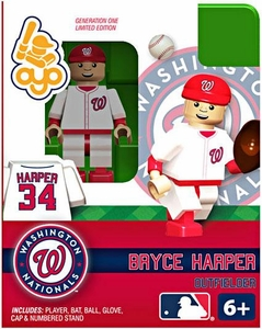 OYO Baseball MLB Building Brick Minifigure Bryce Harper [Washington Nationals]