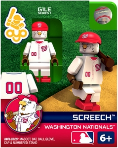 OYO Baseball MLB Building Brick Minifigure Screech [Washington Nationals]
