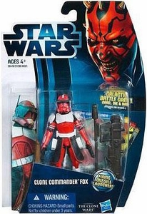 Star Wars 2012 Clone Wars Action Figure #18 Clone Commander Fox [Firing Missile Launcher!]