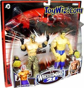 WWE Jakks Pacific Wrestlemania XXI 21 Exclusive Series 2 Action Figure 2-Pack Rey Mysterio & Rene Dupree
