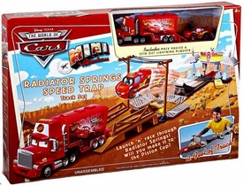 Disney / Pixar CARS Movie Toy Mini Adventures Playset Radiator Springs Speed Trap Track Set