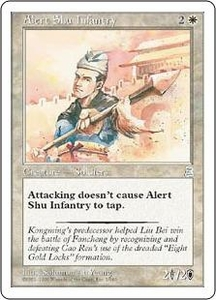 Magic the Gathering Portal Three Kingdoms Single Card Uncommon #1 Alert Shu Infantry