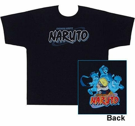 Naruto Adult T-Shirt Naruto Logo [Large]