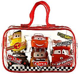 Disney / Pixar CARS Movie 5-Piece Bath Toy Set [Lightning McQueen, Mater, Sheriff, Luigi & Red]
