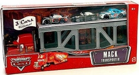 Disney / Pixar CARS Movie 1:55 Die Cast Exclusive Mack Transporter with Bumper Save, Bob Cutlass & Nitroade