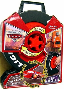 Disney / Pixar CARS Movie Race Launcher Carry Case with Snot Rod [Holds Over 10 Cars!]