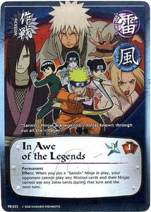 Naruto Card Game Shonen Jump Promo Single Card PR032 In Awe of the Legends