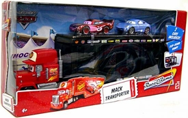 Disney / Pixar CARS Movie 1:55 Die Cast Exclusive Mack Transporter with Radiator Springs McQueen & Sally