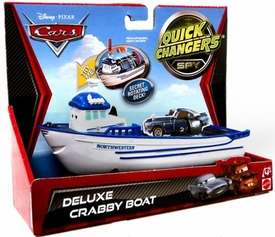 Disney / Pixar CARS 2 Movie 1:55 Quick Changers Race Deluxe Crabby Boat