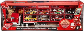 Disney / Pixar CARS Movie Playset Exclusive World Grand Prix Racers 1:48 Die Cast Set with Mack Truck