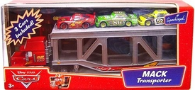 Disney / Pixar CARS Movie 1:55 Die Cast Figure 3-Pack Mack Transporter with McQueen, Chick Hicks & Leakless