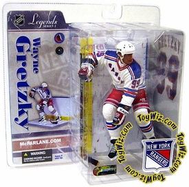 McFarlane Toys NHL Sports Picks Legends Series 3 Action Figure Wayne Gretzky (New York Rangers) White Jersey