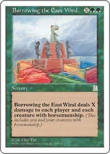 Magic the Gathering Portal Three Kingdoms Single Card Rare #133 Borrowing the East Wind