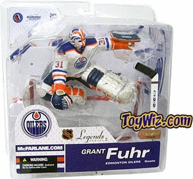 McFarlane Toys NHL Sports Picks Legends Series 2 Action Figure Grant Fuhr (Edmonton Oilers) White Jersey