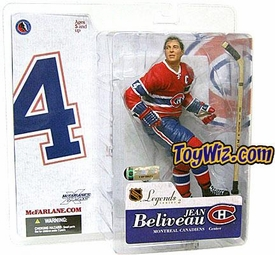 McFarlane Toys NHL Sports Picks Legends Series 2 Action Figure Jean Beliveau (Montreal Canadiens) Red Jersey