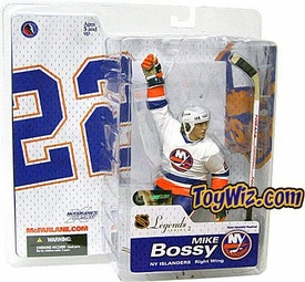 McFarlane Toys NHL Sports Picks Legends Series 2 Action Figure Mike Bossy (New York Islanders) White Jersey