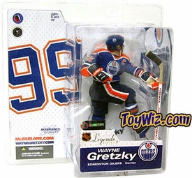 McFarlane Toys NHL Sports Picks Legends Series 2 Action Figure Wayne Gretzky (Edmonton Oilers) Blue Jersey