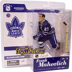 McFarlane Toys NHL Sports Picks Legends Series 1 Action Figure Frank Mahovlich (Toronto Maple Leafs) Blue Jersey