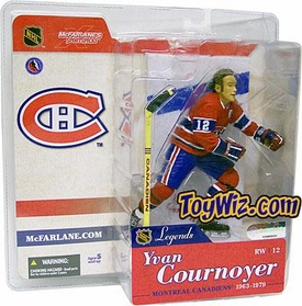 McFarlane Toys NHL Sports Picks Legends Series 1 Action Figure Yvan Cournoyer (Montreal Canadiens) Red Jersey