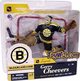 McFarlane Toys NHL Sports Picks Legends Series 1 Action Figure Gerry Cheevers (Boston Bruins) Black Jersey