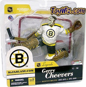 McFarlane Toys NHL Sports Picks Legends Series 1 Action Figure Gerry Cheevers (Boston Bruins) White Jersey Variant