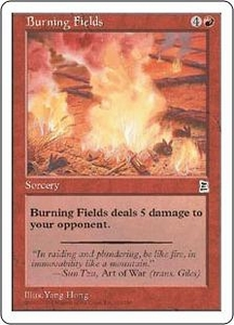 Magic the Gathering Portal Three Kingdoms Single Card Common #103 Burning Fields