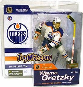 McFarlane Toys NHL Sports Picks Legends Series 1 Action Figure Wayne Gretzky (Edmonton Oilers) White Jersey Variant