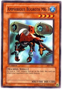 YuGiOh Invasion of Chaos Single Card Common IOC-081 Amphibious Bugroth Mk-3