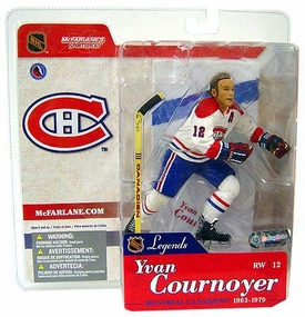 McFarlane Toys NHL Sports Picks Legends Series 1 Action Figure Yvan Cournoyer (Montreal Candiens) White Jersey Variant