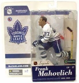 McFarlane Toys NHL Sports Picks Legends Series 1 Action Figure Frank Mahovlich (Toronto Maple Leafs) White Jersey Variant