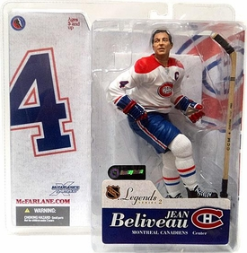 McFarlane Toys NHL Sports Picks Legends Series 2 Action Figure Jean Beliveau (Montreal Canadiens) White Jersey Variant
