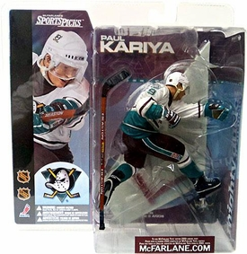McFarlane Toys NHL Sports Picks Series 1 Action Figure Paul Kariya (Mighty Ducks of Anaheim) White Jersey Variant RARE!
